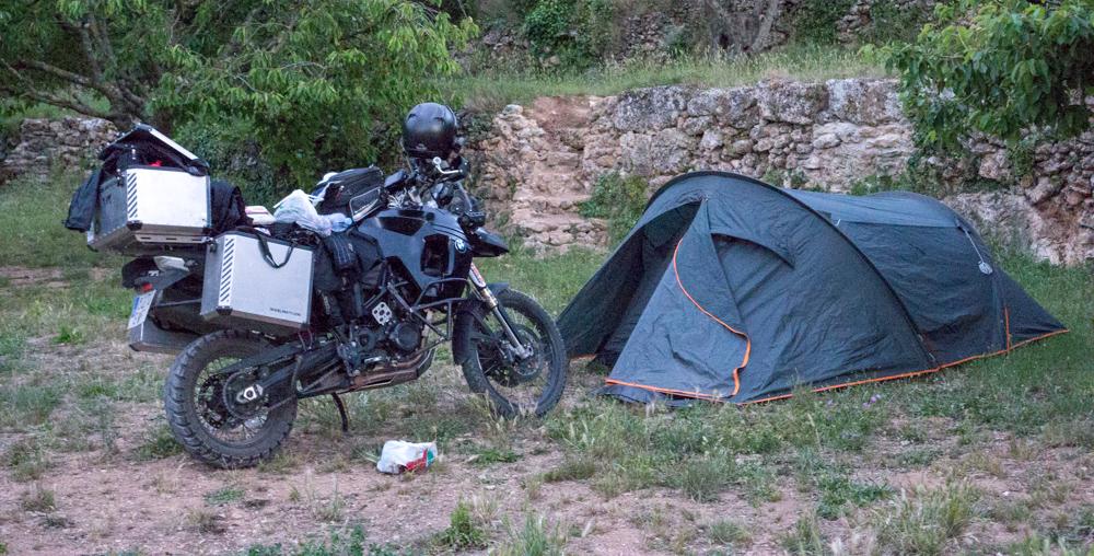 Acostumbrándonos a los campings.