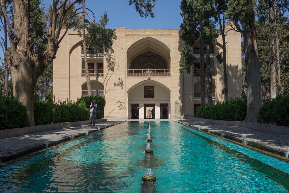 Palacio de Kashan. Agua en mitad del desierto