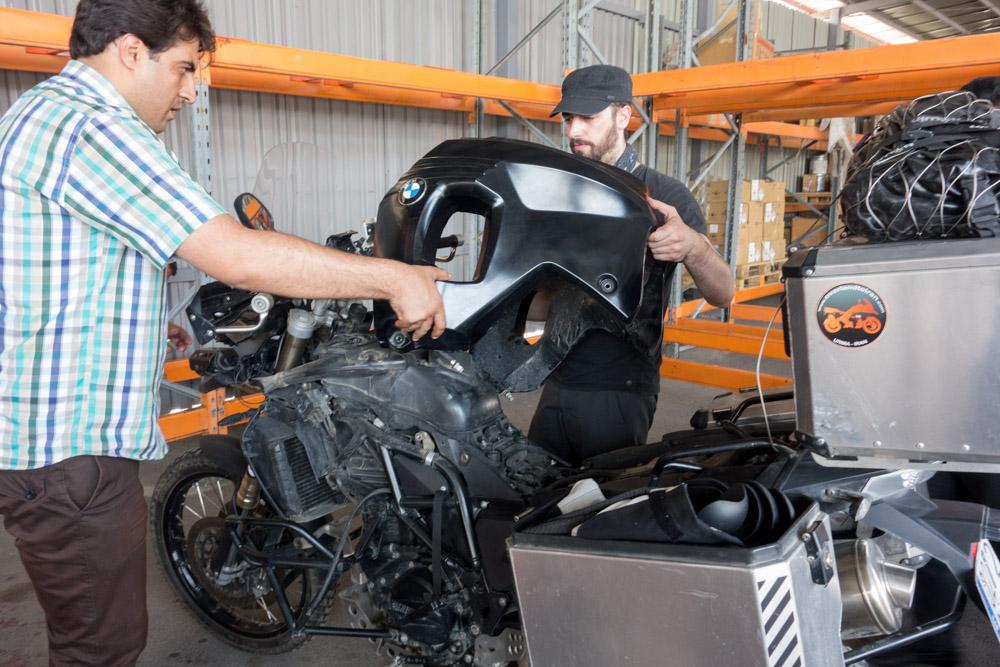 Desmontando la moto