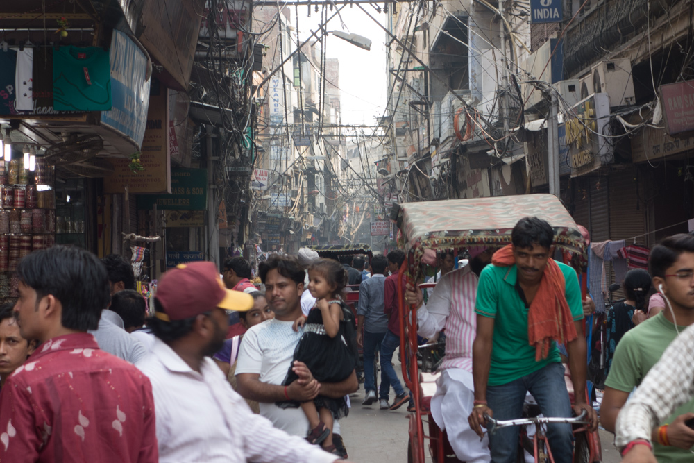 Caos en Delhi