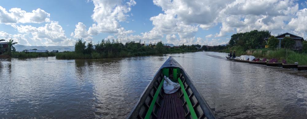Recorriendo el lago Inle
