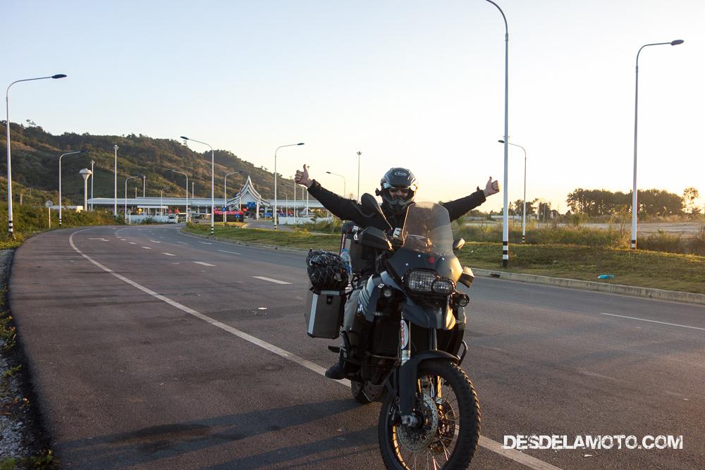 Una vez cruzada la frontera entre Tailandia y Laos.