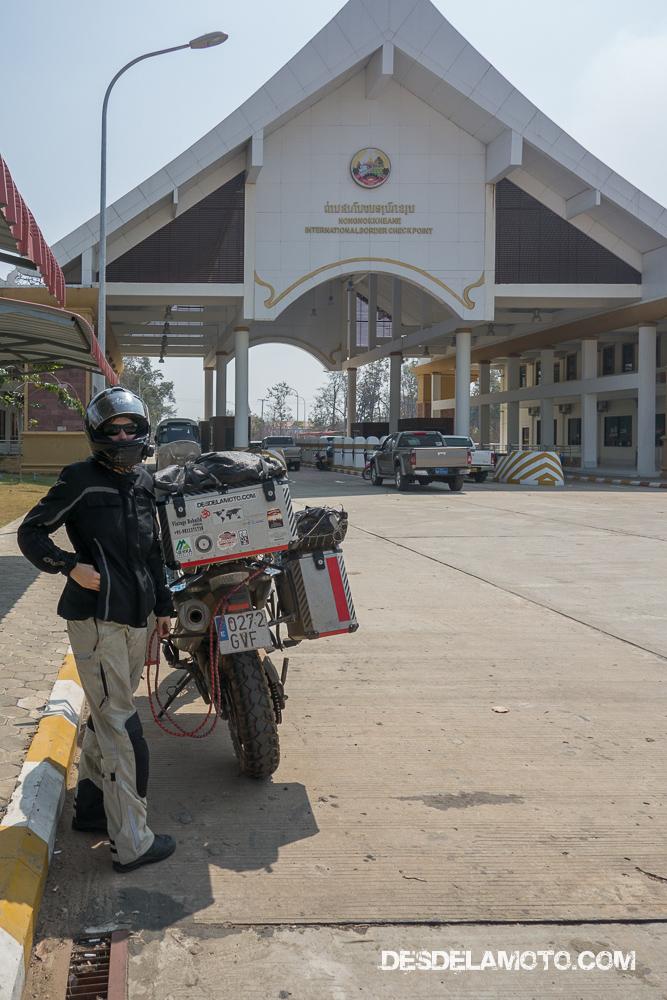 Frontera entre Laos y Camboya.