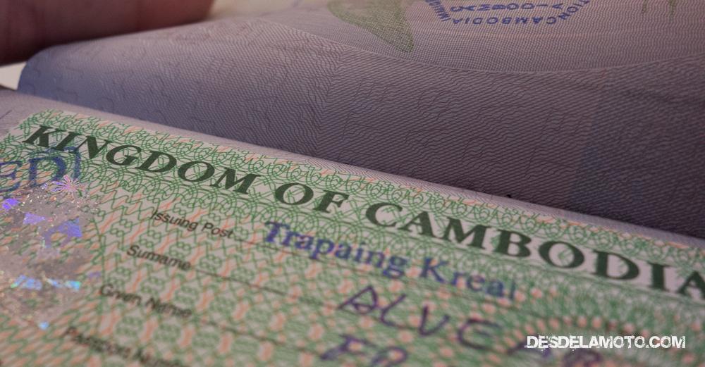 Visado de Camboya.