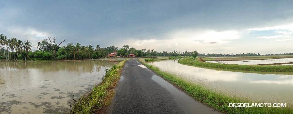 Panorámica de los caminos por Penang