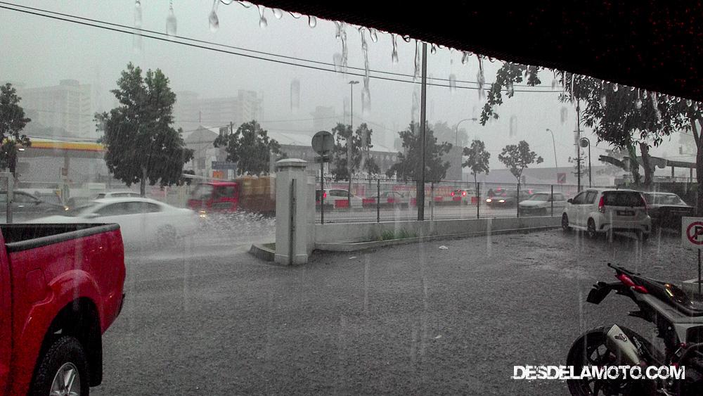 Lluvia al llegar a Kuala Lumpur