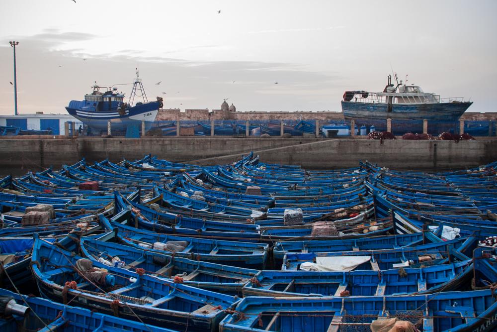 barcas en el puerto